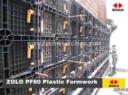 De Opnieuw te gebruiken Plastic Bekisting van Zolo PF80 voor Beton