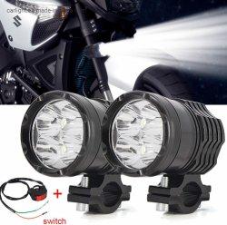 Condução de motociclos faróis das luzes de nevoeiro Luzes Auxiliares CREE 12V Trabalho Dianteira Farol Universal para E-bike Veículo Jeep aluguer de barco