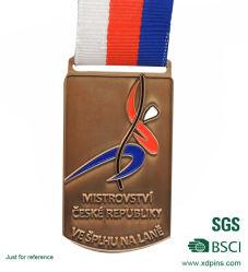 Medalhão de mosaico de metal latão personalizado para o comércio por grosso