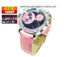 FHD1080p 내장 8GB Mini DV Hidden Lady Watch 카메라 방수 LED Night Vision Watch Camcorde