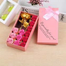 Everlasting Love Rose trempé dans de couleur jaune or 24K Fleur pour la Fête des pères, les naissances, des cadeaux de Noël et de décoration intérieure