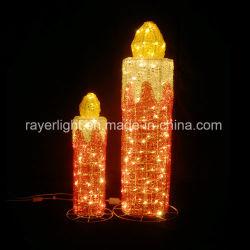 Aanstekende OpenluchtKerstmis siert het Licht van de Kaars van de LEIDENE Decoratie van de Chanoeka voor Pasen