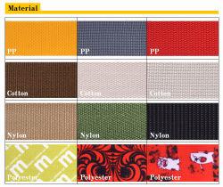 Cinghia elastica di pollice PP/Polypropylene/Cotton/Nylon/Polyester/Fabric/Poly del commercio all'ingrosso 1/2, cinghia, nastro, tessitura su ordinazione nera di 25/50mm per l'indumento e sacchetti