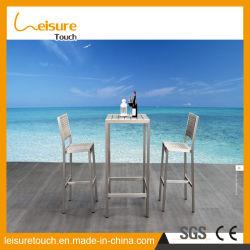 Faible prix de bonne qualité en aluminium avec des fauteuils en osier Table bistro moderne de meubles de jardin Patio Bar en plein air