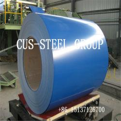 Película de plástico de alta qualidade cor PPGI Prepainted bobina de aço/folha de metal