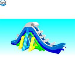 Дешевые цены гигантский надувной плавающий водными горками для продажи с бассейном