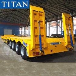 L'essieu 3/4 60/70/80 tonne col de cygne Heavy Duty chargeur BAS/LIT Lowboy Lowbed/ basse camion-remorque semi-remorques pour le transport de machines d'excavateur