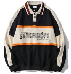 De zwart-witte van het Katoenen van de Mensen van het Piqué T-shirts Volledige Lange Polo van de Koker