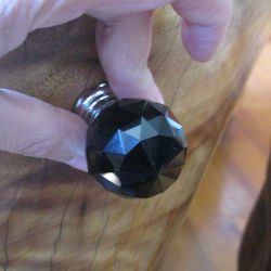 30mm Black Crystal Ceramic Dresser Pull Knob Without Lock