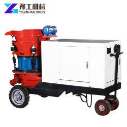 China Suministro de hormigón tipo húmedo y seco gunitadora de pulverización