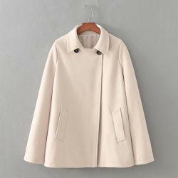 Neue Winter-Frauen-Form-Kleidungs-Weinlese-Wollen lösen Kap-Mantel