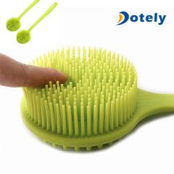 Alça longa / Silicone Escova de Limpeza da escova de Massagem Chuveiro Depurador