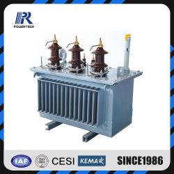 Trasformatore a bagno d'olio a tre fasi di distribuzione del trasformatore di potere
