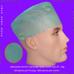 Nonwoven/PP/Protección/médico-quirúrgicas/Operación/Espacio/Cirujano desechables de tapa, tapa redonda desechables desechables, cubierta con mascarilla desechable, el astronauta Cap