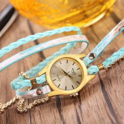 La mujer de serpentina de multicapas de envoltura de cuero de imitación reloj de cuarzo de moda relojes reloj de pulsera de la mujer perfecta Idea de regalo Esg13630