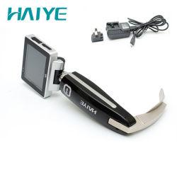 Batterie rechargeable de l'endoscope vidéo électronique Laryngoscope ensemble avec 4 lame réutilisables Mac