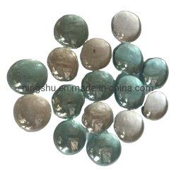 Mosaicos tons de Incêndio (opaca e transparente) Pérolas de vidro Redonda Seixos Nuggets 17-20mm
