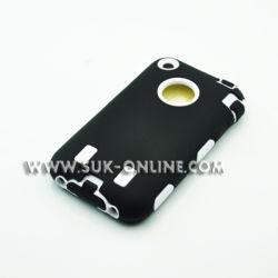 Гибридный жесткий силиконового герметика воздействие чехол для iPhone 3G 3GS