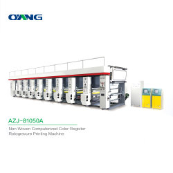 قماش غير منسج مخصص محوسب متعدد الألوان 8 ألوان روتوجرافيور الطباعة سعر الماكينة
