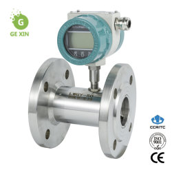 Misuratore di flusso della turbina ad azoto liquido alimentato a batteria con display LCD