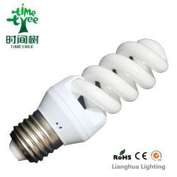 Мини-полный спиральный 15W 9мм 8000h трехдиапазонными беспроводными сетевыми адаптерами энергосберегающая лампа (CFLFST38KH)