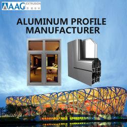 Doppia finestra di scivolamento di alluminio lustrata resistente economizzatrice d'energia di profilo