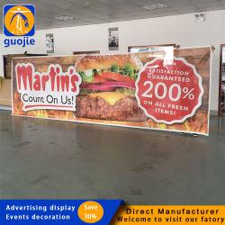 Commerce de gros bon marché en plein air en vinyle PVC personnalisé de la publicité de bannière de PVC