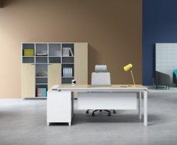 La Chine de conception simple blanc de mobilier de bureau Ordinateur de bureau avec le métal de la jambe (SZ-ODR417)