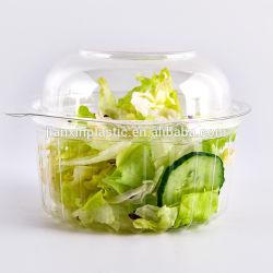 애완동물 투명 플라스틱 원형 야채/샐러드 일회용 용기 플라스틱 샐러드 상자