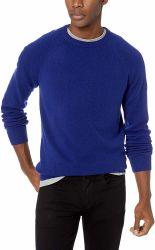 OEM en blanco clásico de la moda personalizada hombres tejido de lana cuello redondo camiseta Slim Fit Puente Pullover