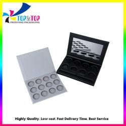 La sombra de ojos en polvo personalizada maquillaje caja de embalaje vacío papel magnético Eyeshadow Box