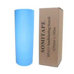 Bande Somi SH9025 de qualité commerciale Film de protection de sablage au jet de gravure
