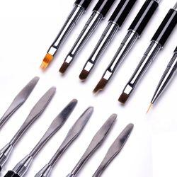 1 Los ordenadores de alta calidad de cabello de Nylon mango del cepillo de Arte de uñas acrílicas Cute Nail Gel Brush con Logo