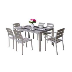 Hôtel moderne/Home Table et chaise de salle à manger de loisirs en aluminium Set de meubles de jardin en plein air Restaurant
