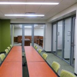Bastidor de aluminio interior Tabique de cristal para el centro de conferencias
