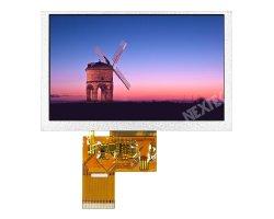Nextek passte 5.0 '' 1000nits IPS Tageslicht lesbares 800*480 LCD an