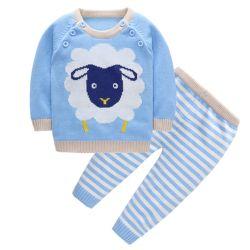 Nieuwe het Katoen van 100% - de geboren Jonge geitjes van de Kleren van de Baby breien de Kleding van de Kinderen van de Sweater