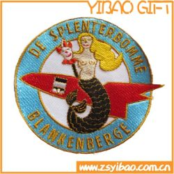 Comercio al por mayor de moda ropa personalizada logotipo bordado de seda bordado de prendas de vestir de parches Accesorios (YB-EP-223)