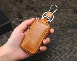 Venda por grosso de couro genuíno chave do carro caso Wallet Bolsa Porta-chaves para homens
