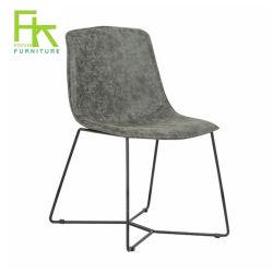 Châssis en métal recouvert de poudre de gros de meubles design Cuir chaise de salle à manger