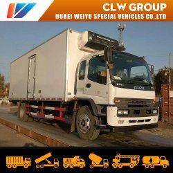 4*2 Isuzu Motor diésel para trabajo pesado de camiones refrigerados Box Van alimentos coche
