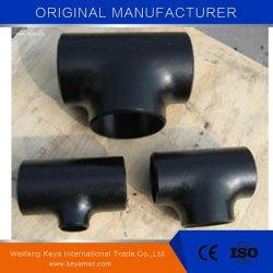 Raccord de tuyau en acier au carbone de raboutage té égal/ réducteur