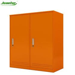 Kd estructura metálica de dos puertas muebles armario Armario de almacenamiento