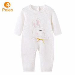 Pagliaccetto di lavoro a maglia del bambino del cotone di autunno di disegno del ricamo del Patten del coniglio