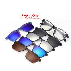 Clip polarizzata UV400 all'ingrosso dell'obiettivo dello specchio di azionamento di modo sugli occhiali da sole