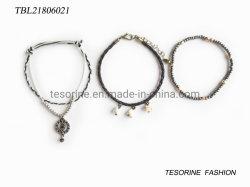 Insieme del braccialetto delle coperture del cuoio del braccialetto dell'unità di elaborazione del braccialetto di stile delle nuove donne di disegno dei monili di modo