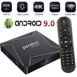 4K Pendoo X10 плюс S905X3 S905X2 Rk3318 2ГБ 16ГБ 9.0 Tvbox Smart Amlogic 2019 4ГБ 32ГБ Amlgoic 64ГБ DDR4 установить верхний Android телевизор .