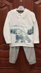 Panno morbido stabilito Homewear del pigiama del ricamo di Microfiber dei capretti con lo standard di Oekotex