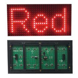 Van het LEIDENE van het Teken van het Bericht van de tekst leiden LEIDENE van de Kleur van de ONDERDOMPELING van de Pixel van de Muur 32*16 Scherm van de Vertoning P10 de Openlucht Rode Module van de Vertoning