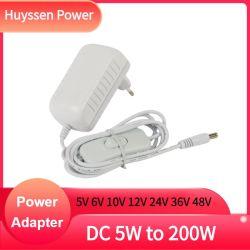 Adattatore bianco DC12V 2 AMP adattatore CA CC 100-240V Adattatore per connettore maschio a parete UE da 12 V C.C. 2 a 24 W.